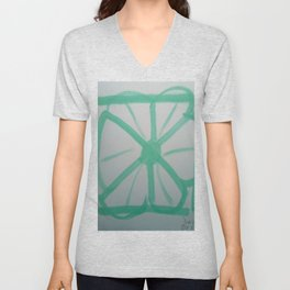 The Fractal Tessellated Labyrinth 138 Dimensions Unisex V-Neck