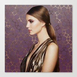 Gemma Geometric Glam - Plum Purple Canvas Print