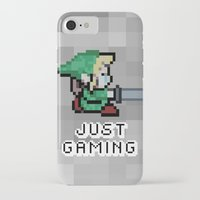 gaming iPhone & iPod Cases featuring JUST GAMING by Edgar