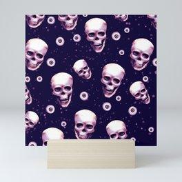 skull pattern Mini Art Print