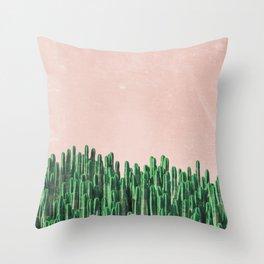 Pink cacti Throw Pillow