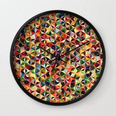 Star Cubes Geometric Art Print. Wall Clock