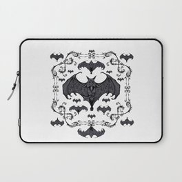 Bats and Filigree - Black and White Laptop Sleeve