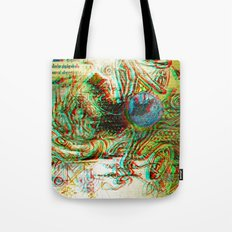 Analogical 3d Roots Tote Bag