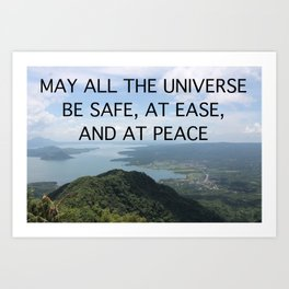 MAY ALL THE UNIVERSE Art Print