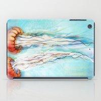 jelly fish iPad Cases featuring Jelly Fish  by Felicia Atanasiu