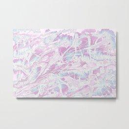 Baesic Wet Paint Purple Metal Print