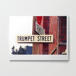 Trumpet, Music teacher gifts, Music room decor Metal Print