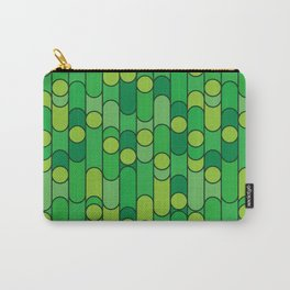 Retro pattern green Carry-All Pouch