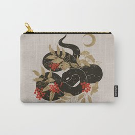 Black Snake with Golden Leaves Carry-All Pouch