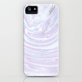 Pastel Abstract Marble Paint iPhone Case