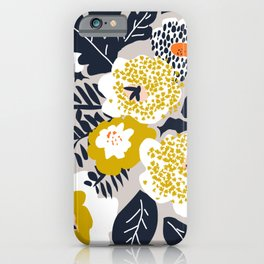 Scandinavian flowers greet you iPhone Case