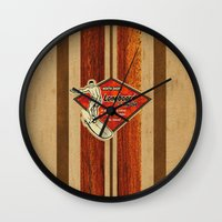 surfboard Wall Clocks featuring Waimea Hawaiian Surfboard Design by Drive Industries