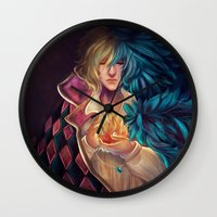howl Wall Clocks featuring Howl by Niniel