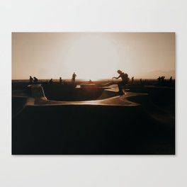 Venice beach skateboarder Canvas Print