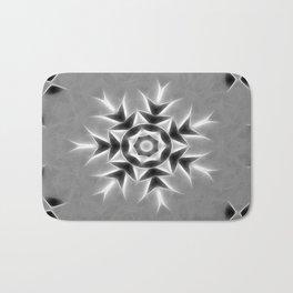 Gray Kaleidoscope Art 20 Bath Mat
