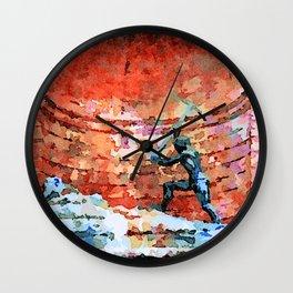 Catanzaro: fountain Wall Clock