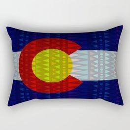 Colorado Flag/Geometric Rectangular Pillow