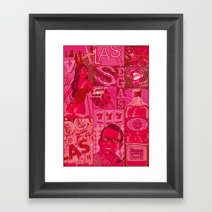 viva las vegas Framed Art Print by dutch   Society6