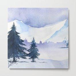 Winter scenery #1 Metal Print