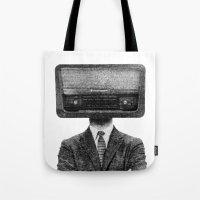 radiohead Tote Bags featuring RadioHead by duba