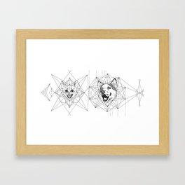 CAT&DOG Framed Art Print