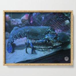 Blue Lobster Serving Tray