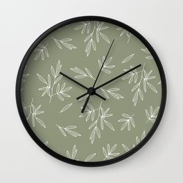 Olive in Olive Wall Clock