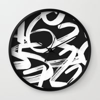 numbers Wall Clocks featuring Numbers by Rinomonsta