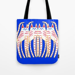 four cats. Tote Bag