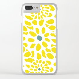 Flowers in Yellow Clear iPhone Case
