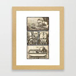 Cthulhu Scare Framed Art Print