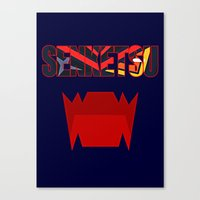 kill la kill Canvas Prints featuring Senketsu - Kill La Kill by feimyconcepts05