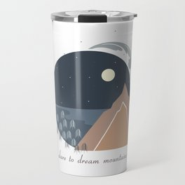 Midnight Sky, Dare to Dream Mountains Travel Mug