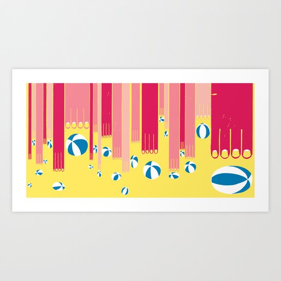 I can bowl a ball, many times in a row. Art Print