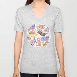 Sprinkles on Donuts and Whiskers on Kittens Unisex V-Neck