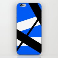 bands iPhone & iPod Skins featuring Bands 1 Retro stripes by Brian Raggatt