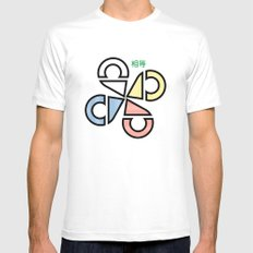 Wings of Equality White MEDIUM Mens Fitted Tee