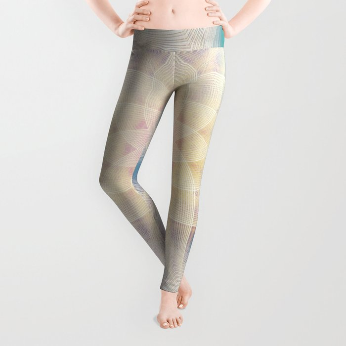 Water Lily Mandala Leggings