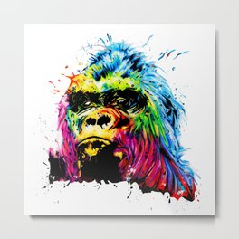 Rainbow Gorilla Metal Print