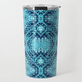 Folk Shibori Blues Travel Mug