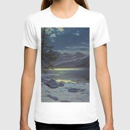 Moonlit Lake, Winter Landscape by Ivan Fedorovich Choultsé T-shirt