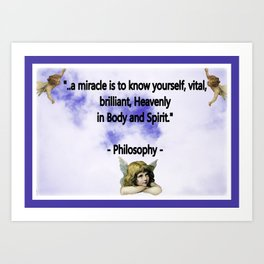 To Know Yourself Art Print