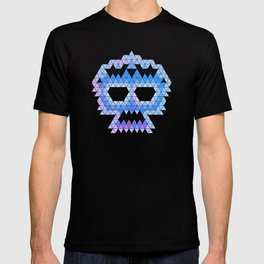 Punk Triangle Skull - Blue T-shirt