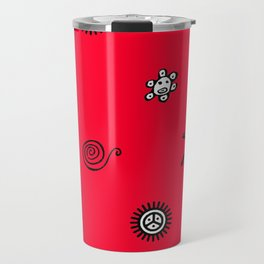 Taino Symbols Pattern Travel Mug