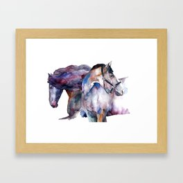 Horses #1 Framed Art Print