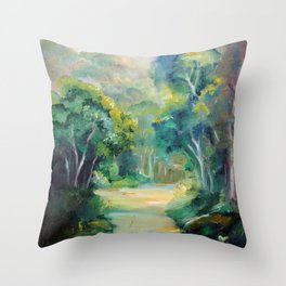 Caminho entre árvores (Path between the trees) Throw Pillow
