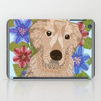 golden retriever iPad Cases featuring Golden Retriever by ArtLovePassion
