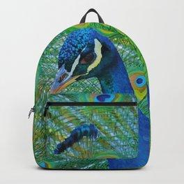 Peacock Illustration Backpack