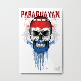 To The Core Collection: Paraguay Metal Print